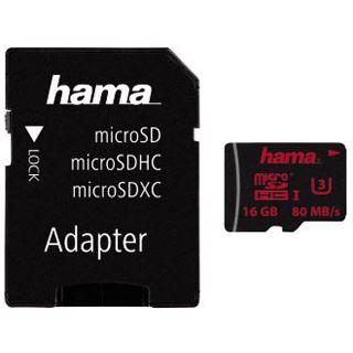 16 GB Hama Mobile microSDHC UHS-I Retail inkl. Adapter auf SD