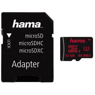 32 GB Hama Mobile microSDHC UHS-I Retail inkl. Adapter auf SD