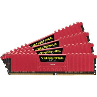 16GB Corsair Vengeance LPX rot DDR4-2133 DIMM CL13 Quad Kit