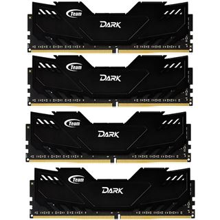 16GB TeamGroup Dark Series schwarz DDR4-3000 DIMM CL16 Quad Kit