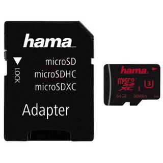 64 GB Hama Mobile Kit microSDXC UHS-I Retail inkl. Adapter auf SD