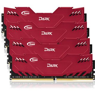 16GB TeamGroup Dark Series rot DDR4-3000 DIMM CL16 Quad Kit
