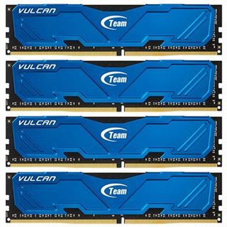 16GB TeamGroup Vulcan Series blau DDR4-3000 DIMM CL16 Quad Kit