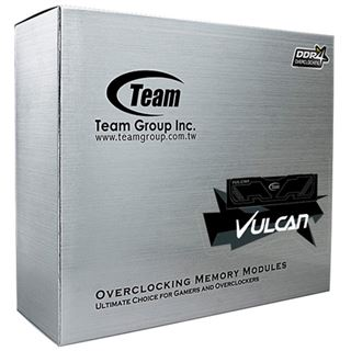 16GB TeamGroup Vulcan Series weiß DDR4-2666 DIMM CL15 Quad Kit