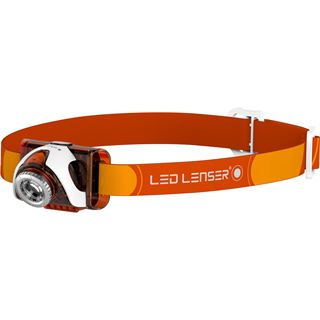 Zweibrüder LED LENSER SEO 3 orange Box Stirnlampe