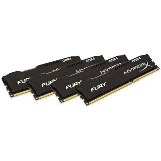 16GB HyperX FURY schwarz DDR4-2400 DIMM CL15 Quad Kit