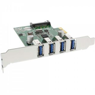 InLine 76661C 4 Port PCIe inkl. Low Profile Slotblech / Low Profile retail
