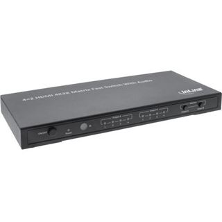 InLine 65011K 4-fach HDMI-Matrix-Switch 4x2