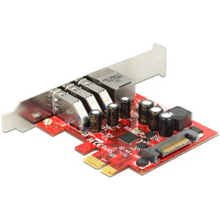 Delock 89382 4 Port PCIe inkl. Low Profile Slotblech / Low Profile retail